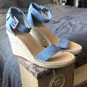 Nautica denim wedges